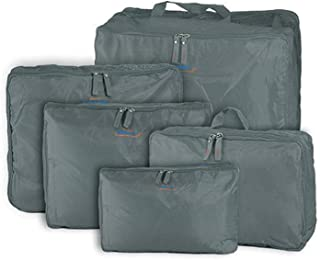 5-piece Travel Bag Organizer Set - Grey