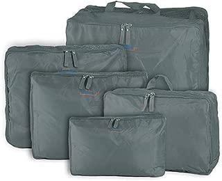 5-piece Travel Bag Organizer Set - Grey