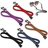 5 Packs Glasses Strap Adjustable Eyeglasses Holder Strap Cord for Reading Adjustable Sunglasses Holder Hang on Neck Eyeglass Retainer String Holder Chain