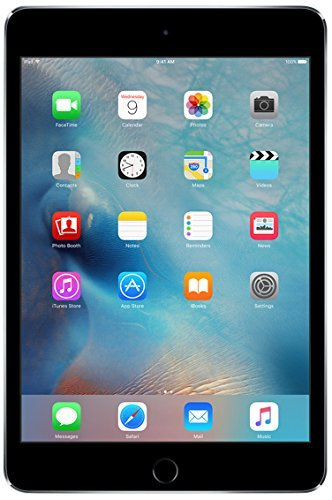 Apple iPad Mini 4 128GB Wi-Fi - Space Grey (Renewed)