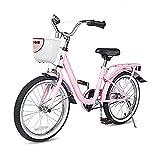 COEWSKE Kid's Bike Steel Frame Children Bicycle 14-16 Inch with Training Wheel (Pink, 18 Inch)