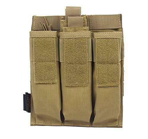 Yunshao Tactical Triple Mag Pouch (TAN)