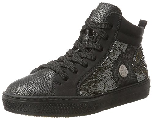 Rieker Damen L5948 High-Top, Grau (graphit/Schwarz/anthrazit/altsilber), 38 EU