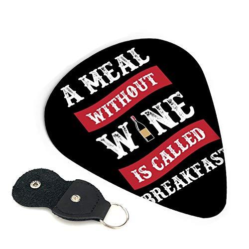 Una comida sin vino se llama desayuno púas de guitarra, paquete de 6, adecuado para guitarra, ukelele, bajo, guitarra eléctrica