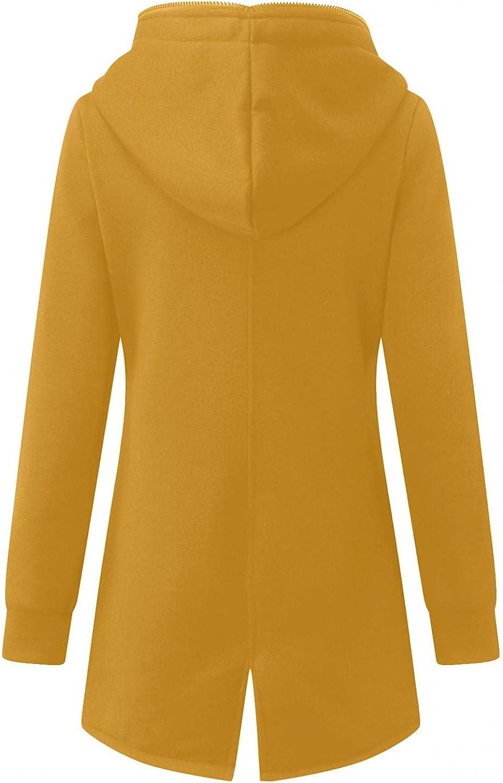 ManxiVoo Women Full Zip Hooded Hoodie Jacket Back Split Hem Zipper Sweatshirt Coat Outwear with Pockets