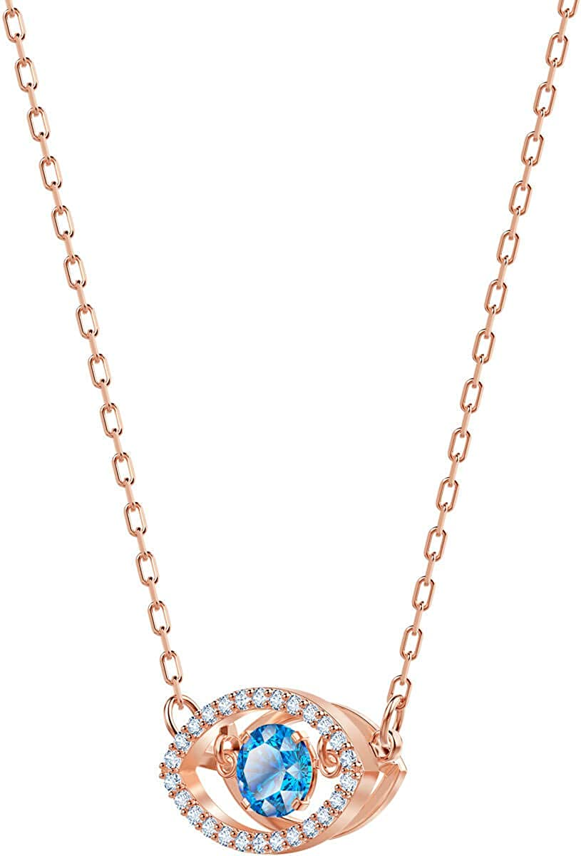 SWAROVSKI Lucky Evil Eye Necklace, Rose Gold Plated, 5448611