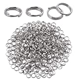 Metal Split Rings, 500 Pieces 6 mm Double Loop Jump Rings Round Small Key Chain Rings Connector for DIY Jewelry Making Findings - Silver