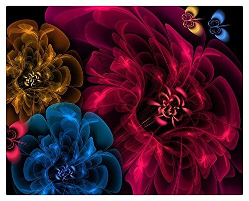 Pintar Por Numeros Adultos Pintura Al Óleo Sobre Lienzo Niños Con Pinceles Y Pigmento Acrílico De 40X50Cm (Marco De Madera) - Flores Velo Fondo Oscuro
