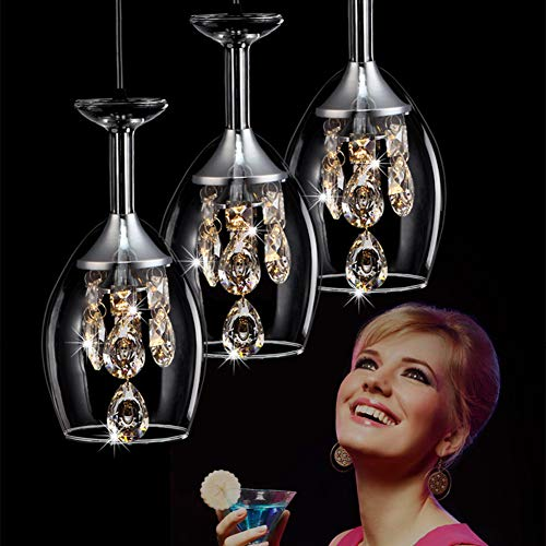 Lámpara Colgante LED De Cristal Lámpara De Techo Regulable Lustre Comedor Mesa De Comedor Pantalla De Vidrio Moderna Ø15cm Lujo De 3 Llamas Lámpara De Plafón