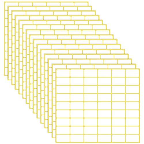Jinlaili 15 Hojas de Etiquetas Adhesivas, 810PCS Etiquetas Adhesivas Pequeñas, 16x28mm, Etiquetas de Carpetas de Archivos Etiqueta de Precio Etiquetas de Código de Colores Etiqueta de Usos Varios
