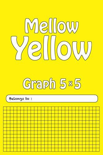 Composition Notebook Graph Paper: 5x5 Grid Paper, Quad ruled yellow journal for Math and Sience (Mellow Yellow LCP Series 6 x 9)