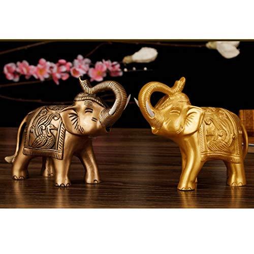 Backbayia - Juego de 2 Figuras de Elefante de Resina Feng Shui, Adorno Artesanal, Figura de Animales craud