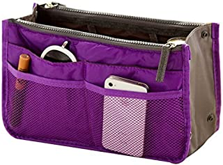 Ecokaki(TM) Women Travel Portable Insert Handbag Pouch Organiser Purse Large Liner Organizer Bag, Purple