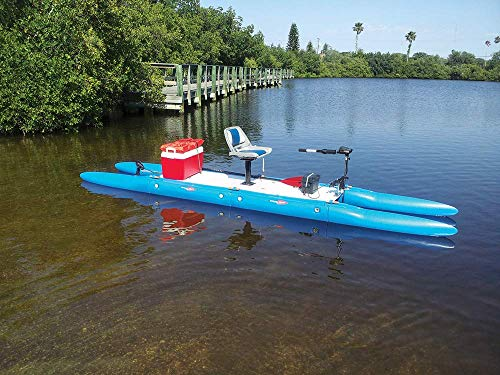 Best Review Of Inflatable Pontoon Fishing Platform Paddle Board Surf Board Dingy Raft Boat (14x3ft.)
