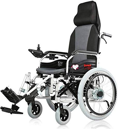 Silla de ruedas eléctrica Silla de ruedas eléctrica para personas mayores Coche para discapacitados Scooter portátil automático inteligente Multifuncional Plegable, ligero plegable Silla de rueda