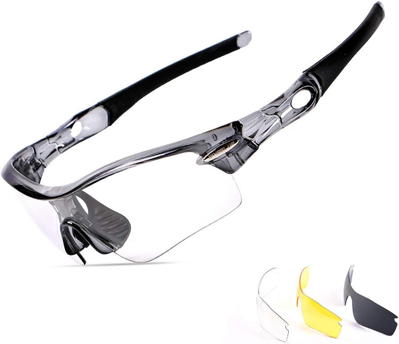 Jakiload Brille Fahrrad Radfahren Farbwechsel Fahrrad Brille Outdoor Brille Geeignet für Outdoor-Liebhaber. (Farbe   A003)