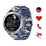 HONOR Watch GS Pro Smartwatch mit SpO2 und Herzfrequenz Fitness Tracker Armband Uhr, 25 Tage Akkulaufzeit 1.39'' AMOLED 5ATM Wasserdicht GPS Umgebungstemperaturprüfung, Sportuhr Herren (Blau)