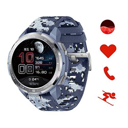 HONOR Watch GS Pro Smartwatch Relojes Inteligente Mujer Hombre,25Días de Duración de la Batería, Monitoreo de SpO2 y Frecuencia Cardíaca, Notificación de Mensaje de Llamada Bluetooth GPS 5ATM, Azul