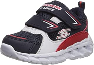 Skechers Baby Boy's Magna-Lights-VENDOW Navy/RED First Walking Shoes-18-24 Months (25.5 EU) (90751N-NVRD-9)