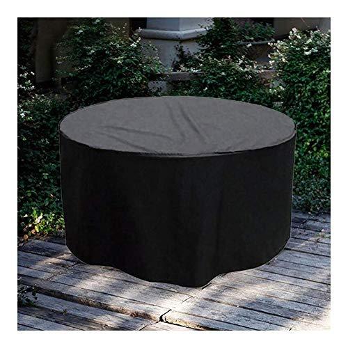 WKZWY Funda For Muebles De Jardín Protección contra Polvo/Sol Lona Protectora Impermeable Patio Mesa Redonda Y Sillas, Tamaño Personalizado (Color : Negro, Size : 210x90cm)
