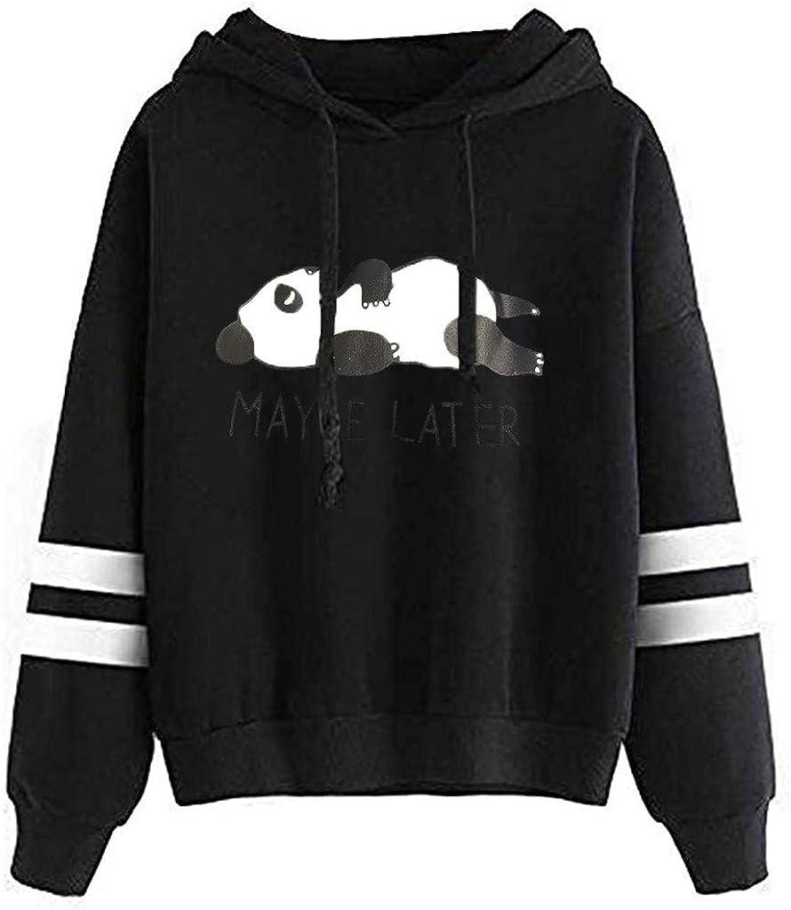 FABIURT Womens Hoodies,Women Teen Girls Cute Cat Printed Long Sleeve Hoodie Casual Loose Pullover Hooded Sweatshirt Tops