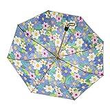 DAGUAI Paraguas para la Lluvia Viaje Paraguas a Prueba de Viento Paraguas Compacto Paraguas Plegable Paraguas para su Novia Paraguas portátil