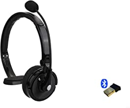 $65 » Support Yealink Bluetooth Headset Wireless USB Dongle and Headset Bundle Noise Reduction Desk Phone for SIP-T27G,T29G,T46G,T48G,T46S,T48S,T52S (Black 1PACK)