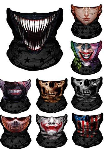 WYShop 3D Halloween Maske Festival Motorrad Gesichtsschutz Outdoor Sonnenmaske Sturmhaube Partei Masken Festliche Lieferungen Maskerade Maske (Stil 10)