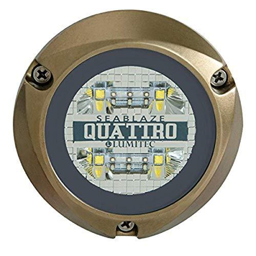 Lumitec Lighting 101511, LED Underwater Light, SeaBlaze Quattro Underwater Light, Dual Color White / Blue