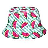 136 Bright Watermelons Fisherman - Gorras de ala ancha para el sol, gorra para papá para correr y gimnasio