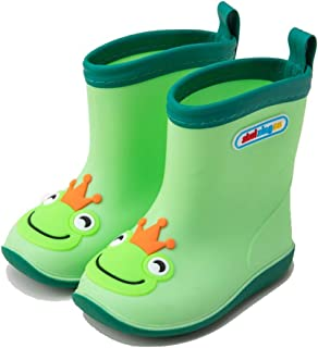 Rubber Boots For Men-Rubber Boots Summer Children's Rain Boots Boys Baby Rain Boots Light Non-slip Girls Rubber Shoes Children Baby Waterproof Overshoes  Rain boots (Color : Green, Size : 27 yards)