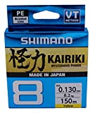 Altro Shimano Kairiki 8 Braided Line 150m 0.10mm/6.5kg Colore Yellow New 2019
