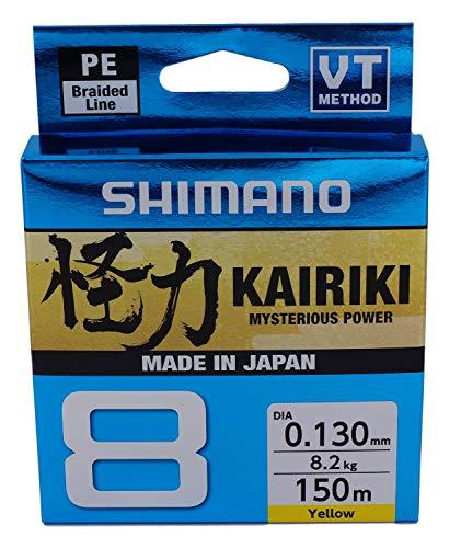 Altro Shimano Kairiki 8 Braided Line 150m 0.20mm/17.1kgcolore Yellow New 2019