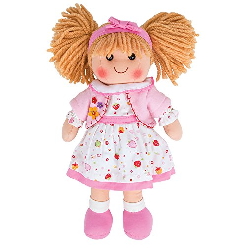 Bigjigs Toys Poupée 28cm Kelly | Jouet Enfant | Jeu Traditionnel Enfant | Nounours | Jouet Enfant | Cadeau Enfant | Jouet pour Fille