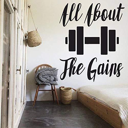Todo sobre fitness gimnasio tatuajes de pared dormitorio decoración del hogar ejercicio gimnasio vinilo pegatinas de pared fitness arte mural