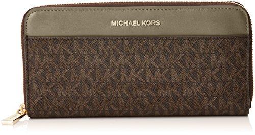 Michael Kors Money Pieces, Women's Purse, Varios colores (Brn/olive), 2.5x10.199999999999999x20.3 cm (W x H L)