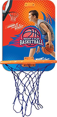 Manaki Enterprise Basketball Hoop with Ball for Playing Indoor/Outdoor Basketball Game for Kids and Adults-Plastic,Multi Color(Pack of 1 Set)