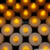 Modern Vase & Gift CYS EXCEL LED-24 Battery-Powered Flameless LED Tealight Candles, Pack of 24 pcs