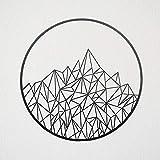 Ced454sy Arte geométrico de montaña de metal