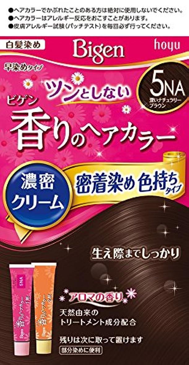明示的に膨らませるシャイホーユー ビゲン香りのヘアカラークリーム5NA (深いナチュラリーブラウン)1剤40g+2剤40g [医薬部外品]