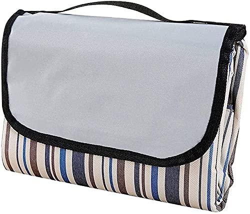 ZRDSZWZ Manta de playa fiable para pícnic, playa, a prueba de humedad, colchonetas, 150 x 100 cm, color marrón, manta de playa al aire libre para camping, parque, patio