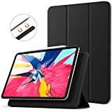 TiMOVO Cover Compatible for iPad Pro 11 Inch 2018 Case, [Support Apple Pencil Pair & Charging] Strong Magnetic Attachment, Trifold Stand Case with Auto Sleep/Wake Fit iPad Pro 11' 2018 - Black