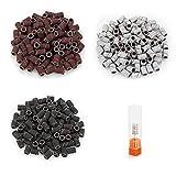 Belle 300pcs Levigatura Bande per Nail Drill Manicure utensili di molatura cilindrica con ...