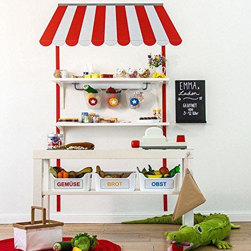 Wandtattoo Kaufladen für Kinder passend für IKEA Lack TV-Bank und Regale (Länge 80 cm)