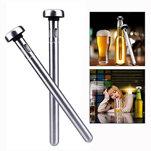 Itian 2 Packung Edelstahl Bierkühler,Edelstahl Flaschenkühler für Bar,Draussen Strand Party Trinken