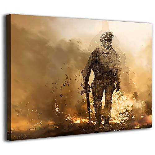 Tableros de lienzo para pintar mural de pared Call of Duty Modern Warfare 2 pósteres marco de lienzo de 61 x 40 cm