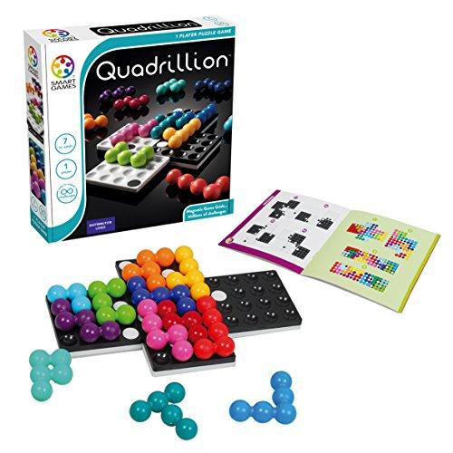 Games-SG540ES Smart Games-Quadrillion, educativo para niños, juegos de mesa infantiles, niño, smartgames, juguete puzzle para pequeños, multicolor, Miscelanea (SG540Es)