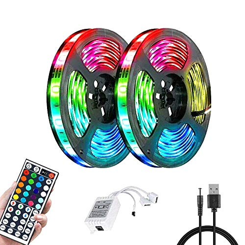 RGB LED Strip Lights with Remote Control Smart RGB Fairy Garland Light Colour Changing Tape for Christmas Tree, Wedding, Party, Holiday, Room, Kitchen, KTV & Bar, TV Ceiling Decoration (15M)