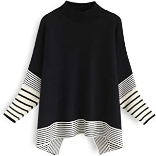 Best black sweater with striped sleeves Reviews