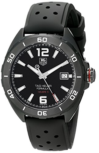 Tag Heuer Formula 1 Calibre 5 Black Titanium Automatic Watch 41mm...